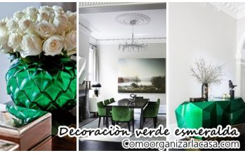 32 Ideas para decoración de interiores color verde esmeralda