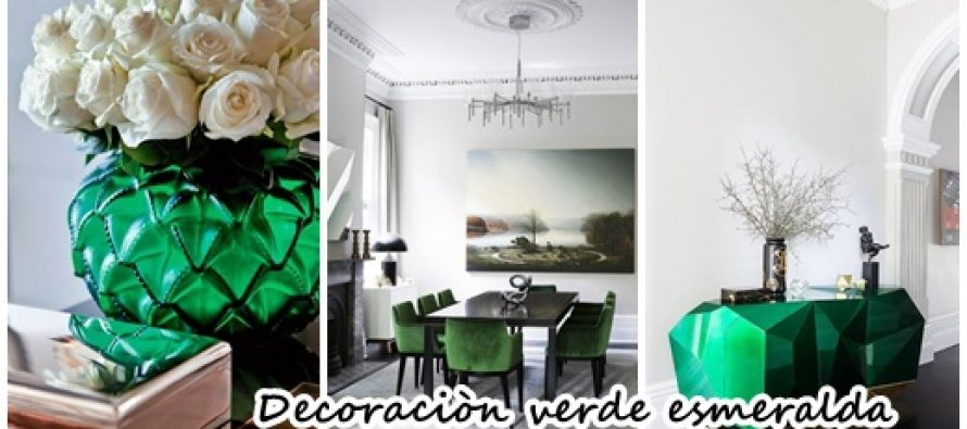 ideas para decoracin de interiores color verde esmeralda