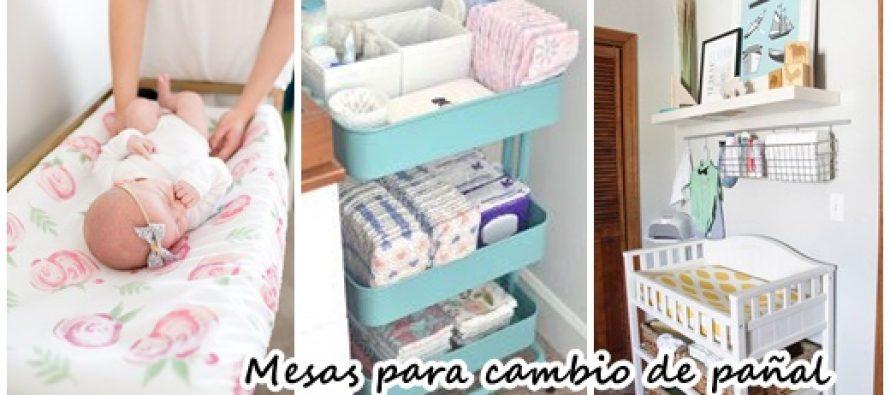 32 ideas de mesas para cambiar pañales a bebès