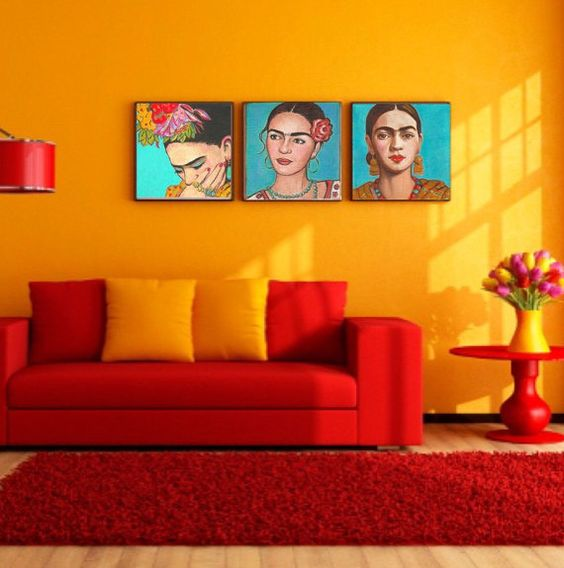 33 ideas de decoracion de interiores inspiradas en frida kahlo
