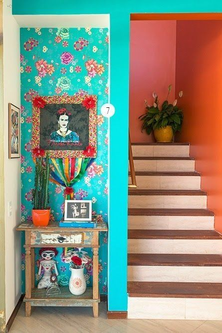 33 ideas de decoración de interiores inspiradas en Frida Kahlo