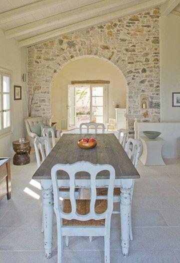 33 ideas para decorar con piedra las paredes de tu casa - Ideas para pintar paredes interiores de casa ...
