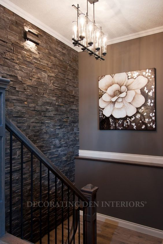 33 ideas para decorar con piedra las paredes de tu casa for Piedras para decorar paredes