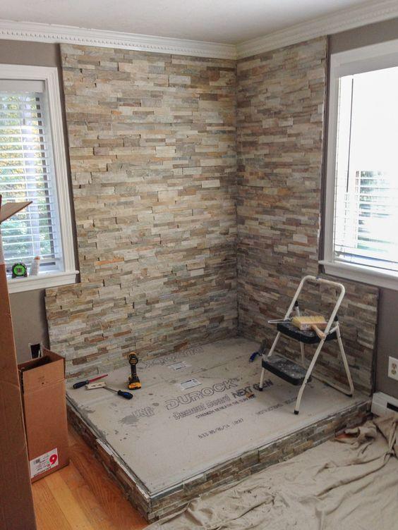 33 ideas para decorar con piedra las paredes de tu casa 32 decoracion de interiores fachadas - Piedras para decoracion de interiores ...