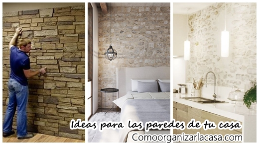 33 ideas para decorar con piedra las paredes de tu casa for Fachada de color casa tu piedra