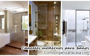 34 Diseños de canceles modernos para tu baño