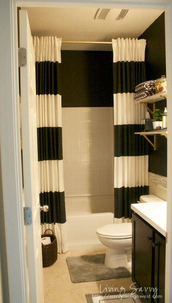 34 disenos cortinas bano 15 decoracion de interiores fachadas para casas como organizar la casa - Cortinas de bano de diseno ...