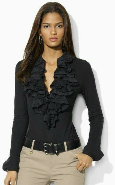 34 Ideas for Combining Your Black Blouses Outfits