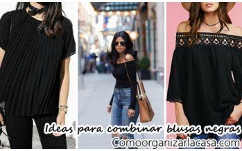 34 ideas para combinar tus blusas negras – Outfits