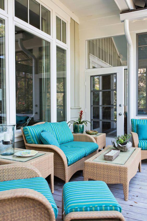 34-ideas-decorar-terrazas-color-turquesa (11)   Decoracion de ...