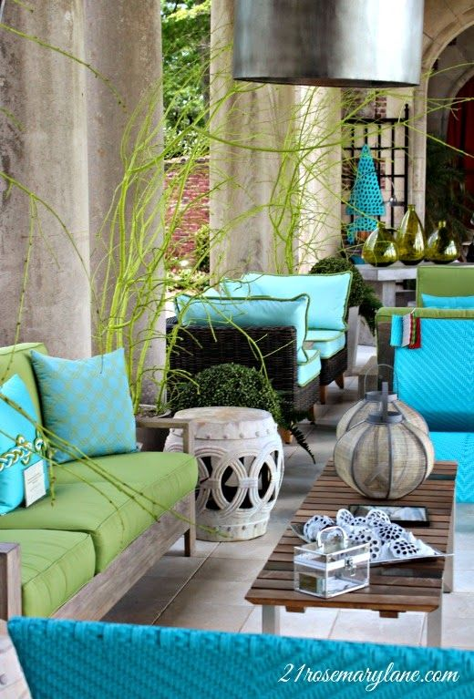 34-ideas-decorar-terrazas-color-turquesa (26) | Decoracion de ...