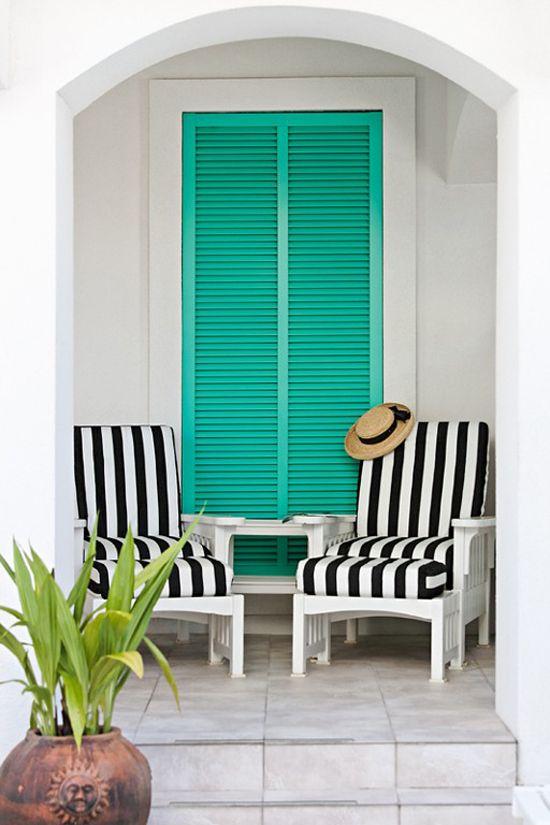 34 Ideas para decorar terrazas en color turquesa