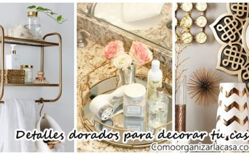 35 Ideas para decorar interiores con color dorado