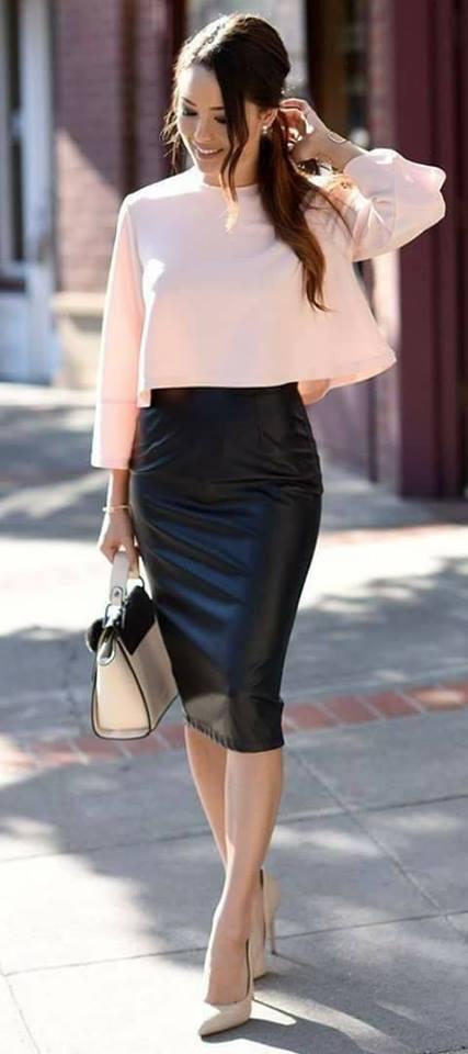 35 Outfits Con Faldas De Cuero Negras Como Organizar La