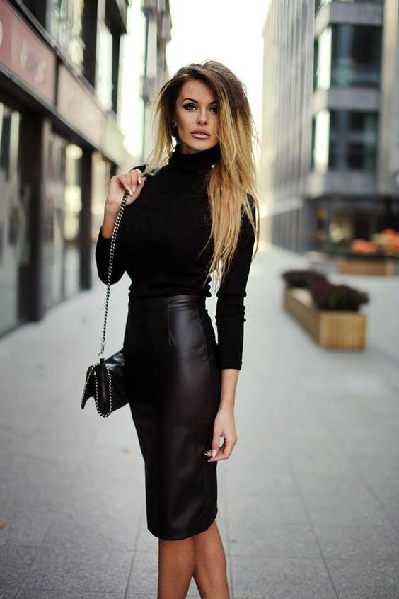 35-Outfits-Faldas-Cuero-Negras 3  Como Organizar La -2787