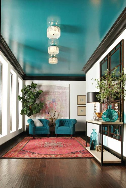 36 ideas de decoración de interiores color azul turquesa