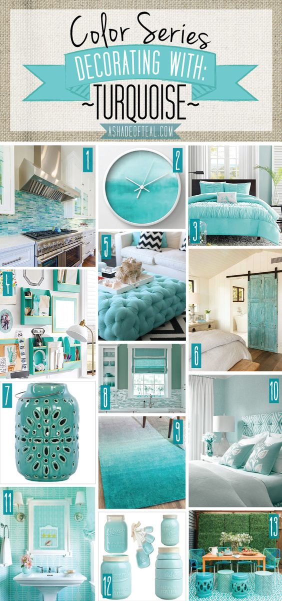 36-ideas-decoracion-interiores-color-azul-turquesa (32 ...