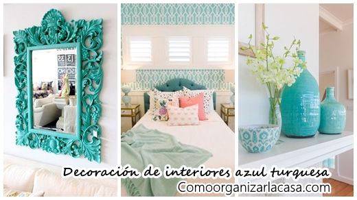 36 ideas de decoraci n de interiores color azul turquesa for Decoracion en tonos turquesa