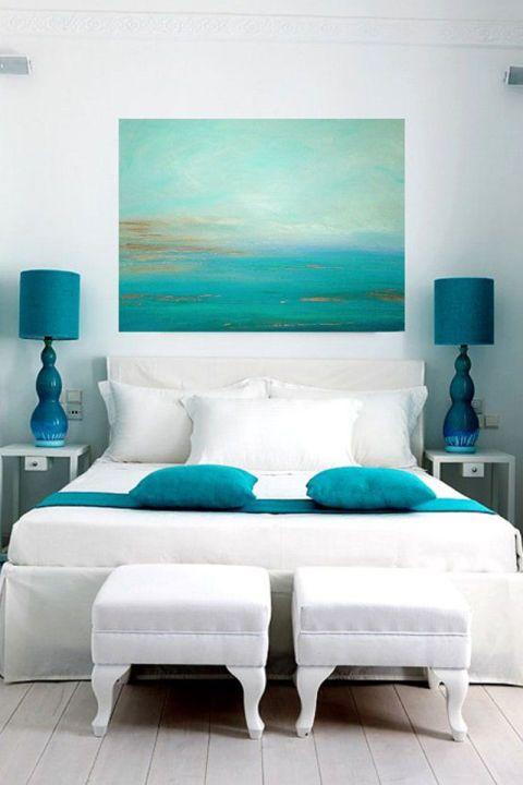 ideas de decoracin de interiores color azul turquesa