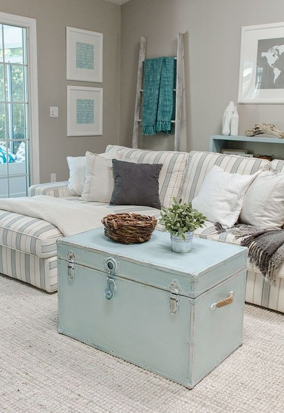 36-ideas-decoracion-interiores-color-azul-turquesa (9) | Decoracion ...