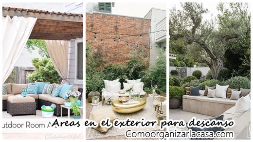 38 ideas para decorar exteriores para descanso for Ideas para decorar exteriores