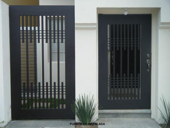 Diseños rejas puertas exteriores modernas