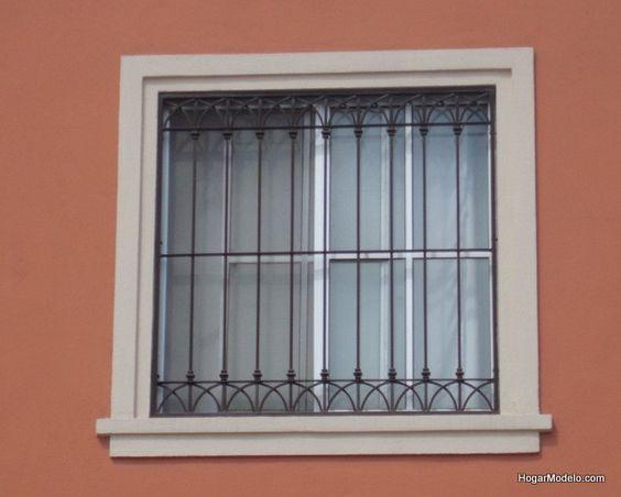 40 dise os de rejas para puertas y ventanas decoracion for Puertas de herreria para interiores