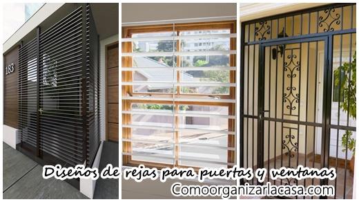 40 Diseños De Rejas Para Puertas Y Ventanas Como Organizar