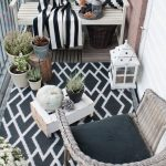 40 Ideas para decorar una terraza blanco con negro