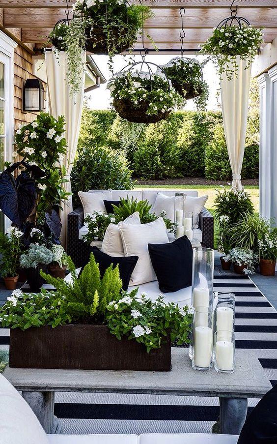 40 ideas decorar una terraza blanco negro 40 - Ideas para decorar una terraza ...