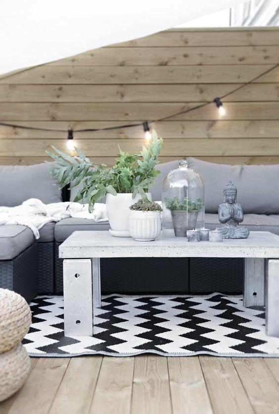 40 Ideas Decorar Una Terraza Blanco Negro 6 Como