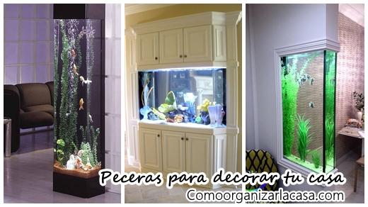 Dise os de peceras para decorar tu casa - Casas con peceras ...