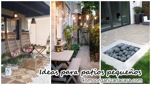 Ideas para aprovechar un patio peque o decoracion de - Decorar un patio pequeno ...