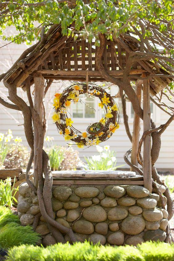 ideas para decorar tu jardn con pozos de los deseos