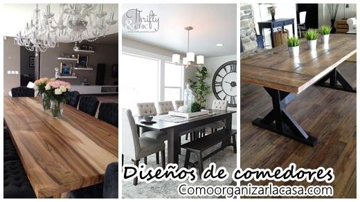 Los mejores 30 diseños de mesas para comedor | Como Organizar la ...