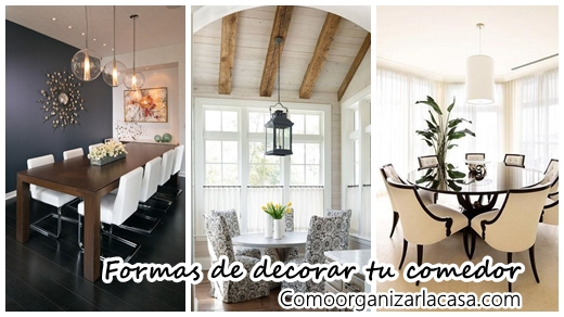 27 formas para decorar tu comedor decoracion de for Formas para decorar una casa