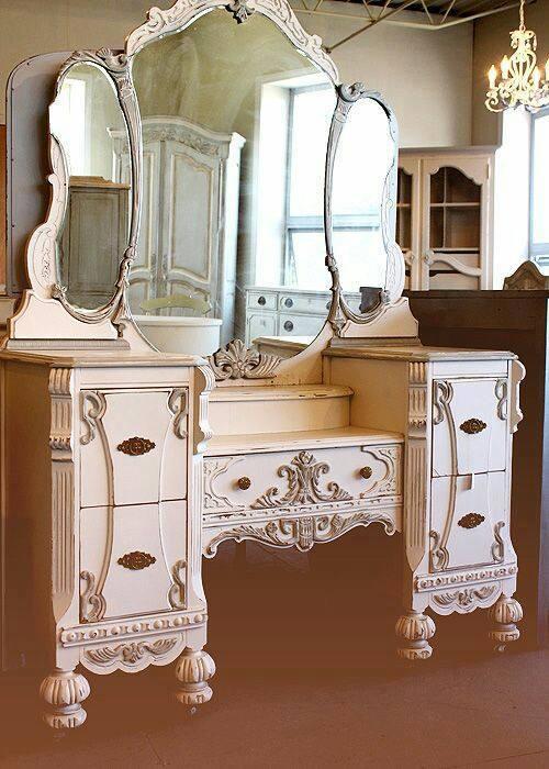 28 tocadores estilo vintage 17 decoracion de for Casas estilo vintage