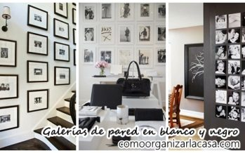 33 Galerías de pared con fotos blanco y negro