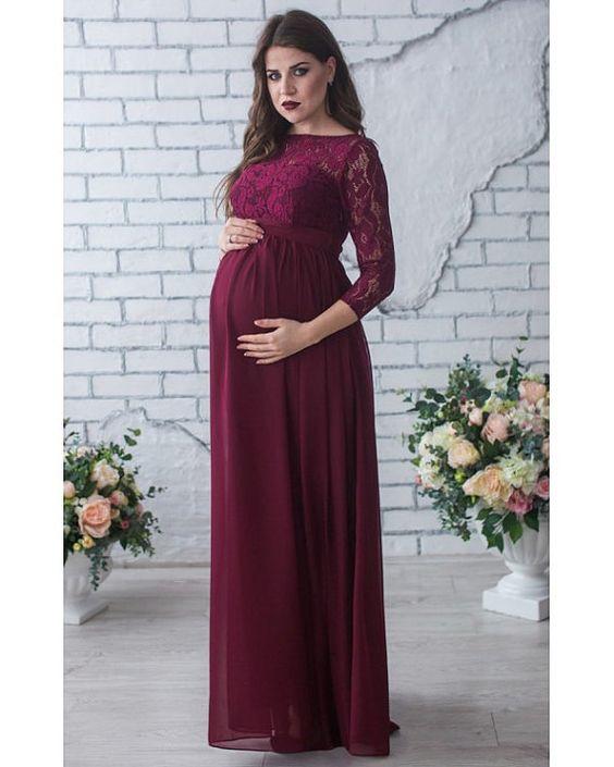 Vestido fiesta para mujer embarazada