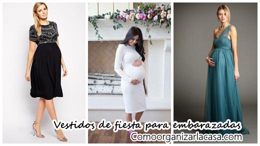 Vestidos para mujeres embarazadas de fiesta