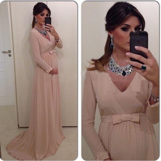 Fotos de vestidos de fiesta para mujeres embarazadas