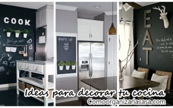 35 ideas para transformar tu cocina con una pared de pizarra