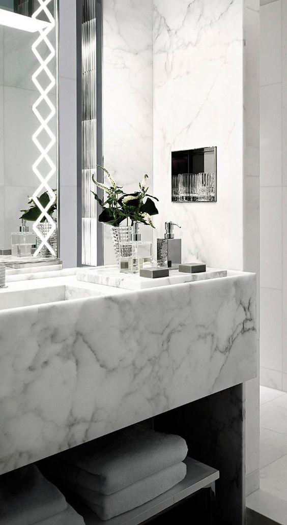36 detalles marmol decorar bano 13 curso de - Reciclar marmol ...