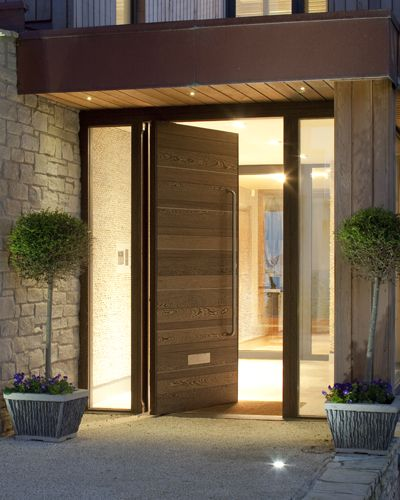 37 puertas principales fantasticas te van encantar 15 for Wood door design uk