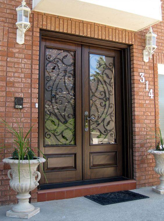 37 puertas principales fantasticas te van encantar 34 for Fotos de puertas principales