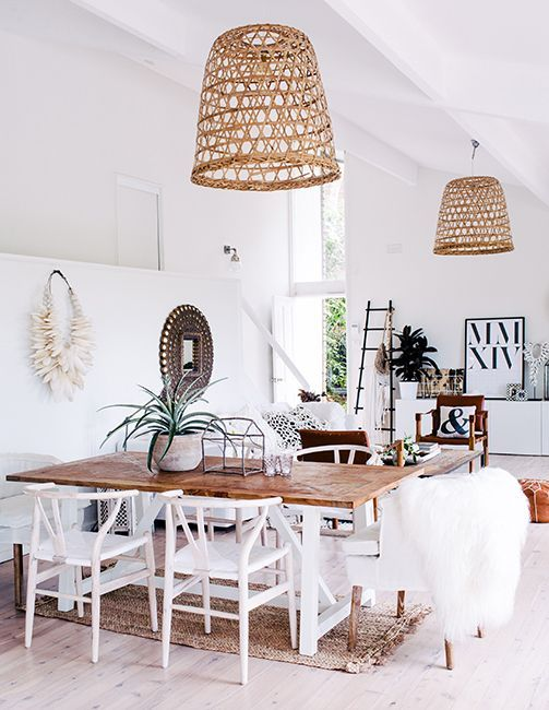 Decoración de interiores con mimbre para un estilo rústico