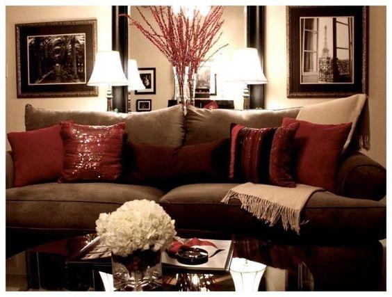 Decoracion interiores rojo cafe 13 decoracion de for Decoracion casa rojo