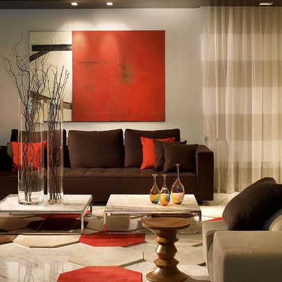 brown and white living rooms decoraci 243 n de interiores rojo y caf 233 decoracion de 22171