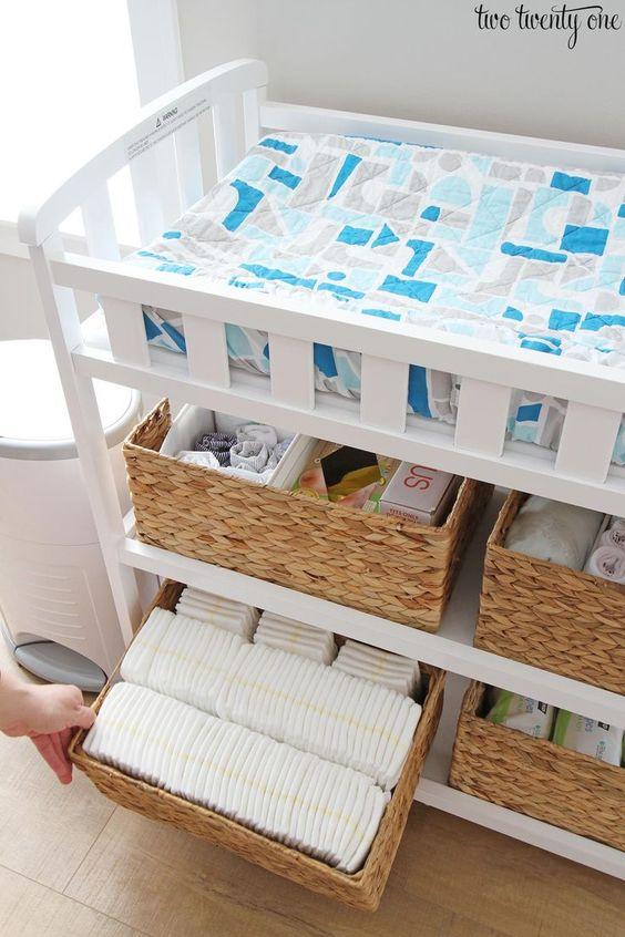 Organiza los pañales de tu bebe con estas 30 ideas