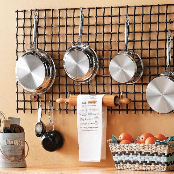 Organizar Colgar Las Ollas Cocina 14 Como Organizar La